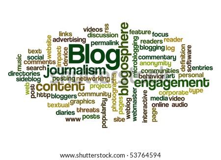 Blog - Word Cloud - stock vector