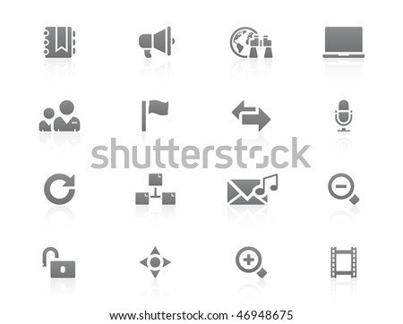 Blogging icon set - stock vector