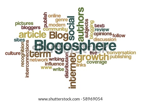 Blogosphere - Word Cloud - stock vector