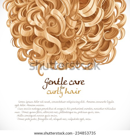 Blond curled hair background - stock vector