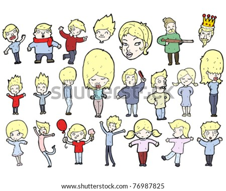 Blond People cartoon