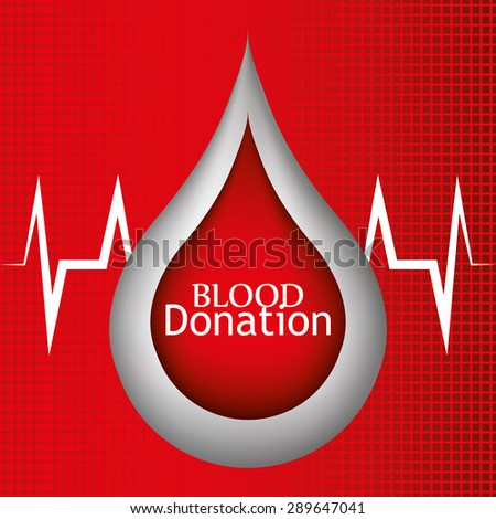 Blood design over red background, vector illustration.