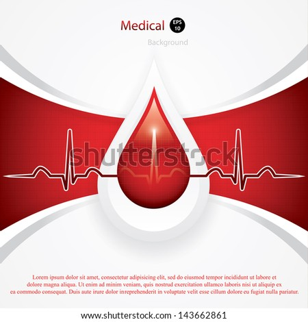 Blood donation vector. Medical background - stock vector
