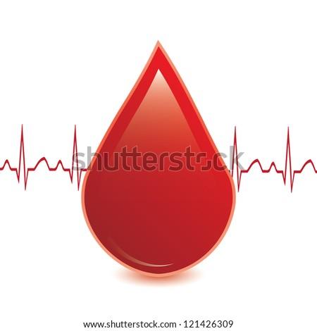 Blood donation vector.Medical button - stock vector
