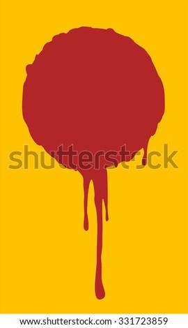 blood drop - stock vector