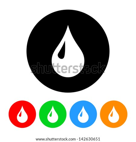 Blood Drop Icon - stock vector