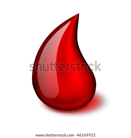 Blood drop vector icon - EPS 10 - stock vector