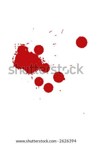 blood drops on white background