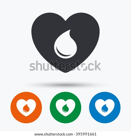 Blood icon. Blood flat symbol. Blood art illustration. Blood flat sign. Blood graphic icon. Flat icons in circles. Round buttons for web. - stock vector