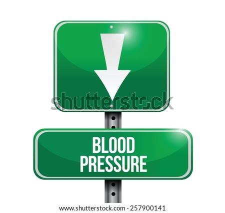 blood pressure down concept illustration design over white background - stock vector