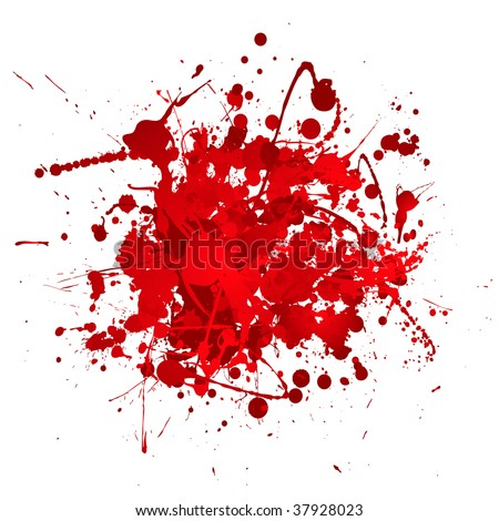 Blood red abstract background with 3d effect in ball shape