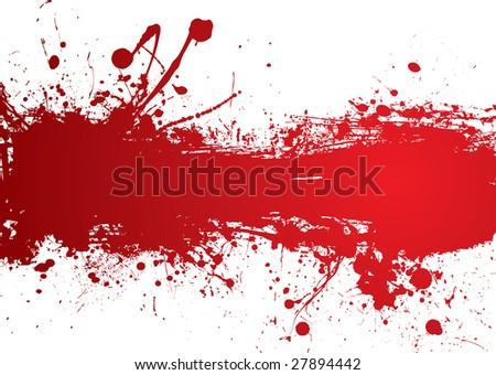 Blood red banner with room to add your own text - stock vector