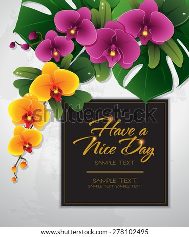 blossom tropical flower background 07 - stock vector