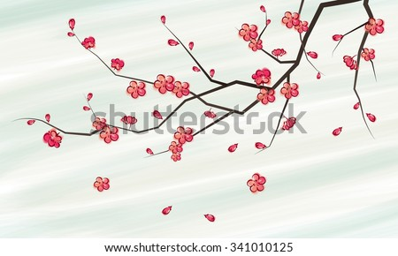 Cherry Blossom Branch Painting
