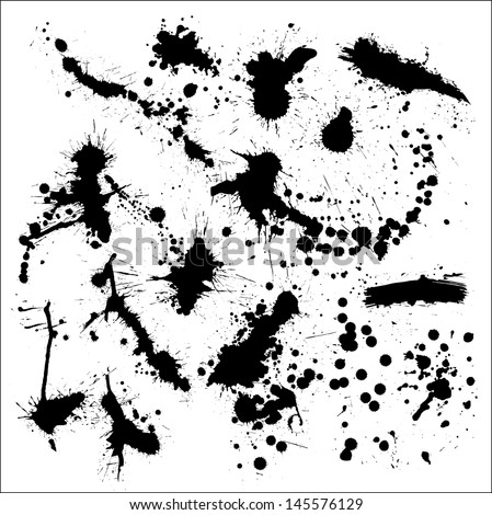 blot of ink - stock vector