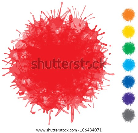 Blots of various colors - vector set of elements for design - stock vector