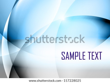 Blue abstract background - stock vector