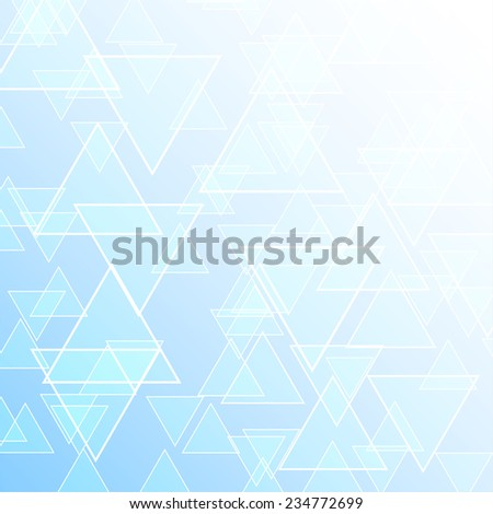 Blue abstract background of geometric shapes, vector - stock vector