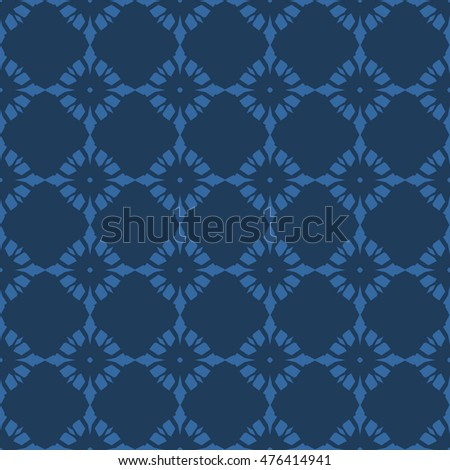 Blue abstract background, striped textured geometric seamless pattern