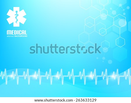 Blue abstract background suitable for materials about healthcare and medical topics. - stock vector
