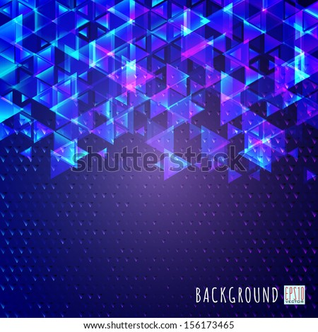 Blue abstract background.The illustration contains transparency and effects. EPS10
