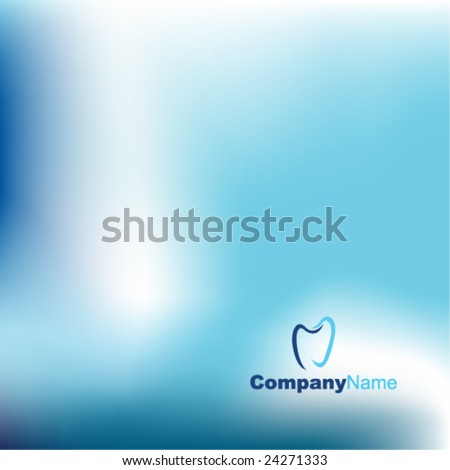 Blue abstract background - trendy dental business website  template with copy space Contemporary texture  - stock vector