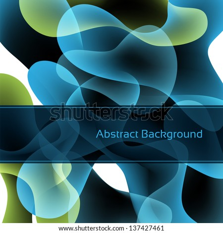 Blue abstract background. Vector eps10. - stock vector