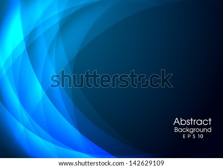 blue abstract background Vector. EPS 10 - stock vector