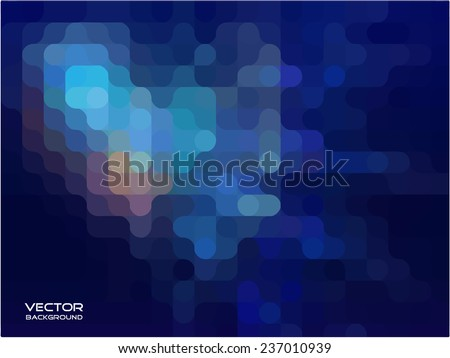 blue abstract background. vector illustration. - stock vector