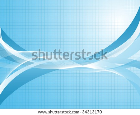 Blue abstract background. Vector-Illustration.