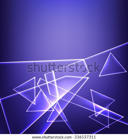 blue abstract background with a plurality of LED elements