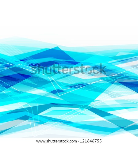 Blue abstract business background with moving lines. Eps10 - stock vector
