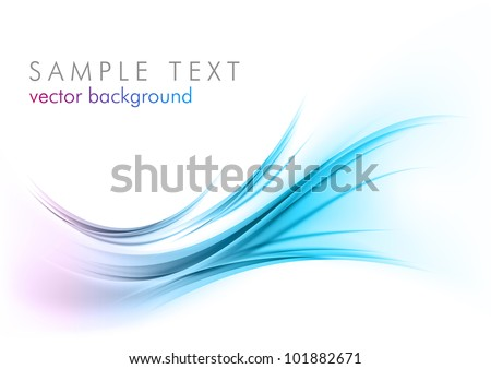 blue abstract elements on the white - stock vector