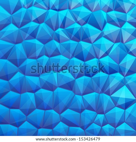 Blue abstract geometrical backdrop with sexangle, triangle shapes with copy space for your text, sign. Blank template swatches square format. Vector illustration clip-art web design element 10 eps - stock vector