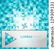 Blue Abstract Geometrical Background | Mosaic Vector Illustration | Modern Layout - stock vector