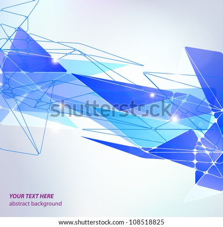 blue abstract high-tech background - stock vector