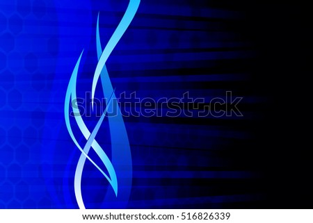 Blue Abstract Illustration