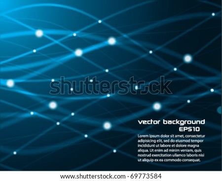Blue Abstract Lines Design - stock vector