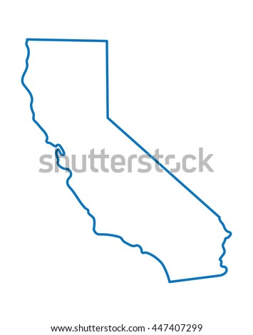 blue abstract map of California