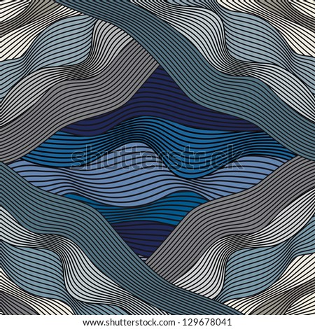blue abstract pattern with lines - stock vector