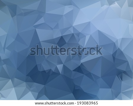 Blue abstract polygonal background. Triangles background for your design - stock vector