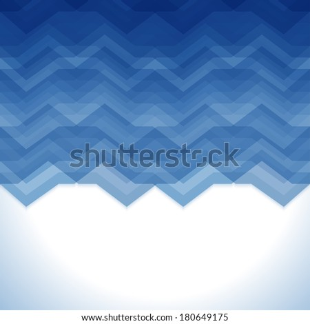 Blue Abstract Retro Vector Background, Fashion Zigzag Pattern of Color Stripes - stock vector