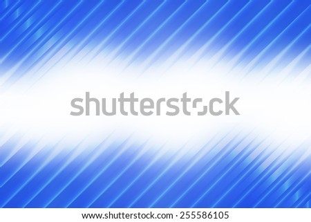 Blue abstract smooth blur background with diagonal stripes.