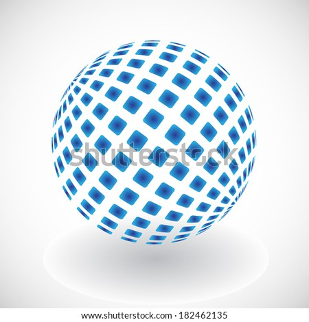 Blue abstract sphere