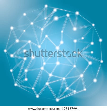 blue abstract structure background. vector eps10