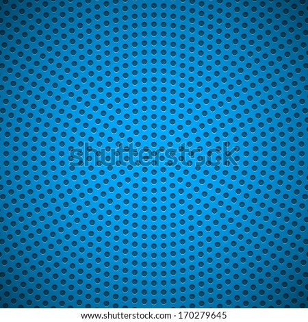 Blue abstract technology background with seamless circle perforated speaker grill texture for web sites, user interfaces (UI), applications (apps) and business presentations. Vector illustration. - stock vector