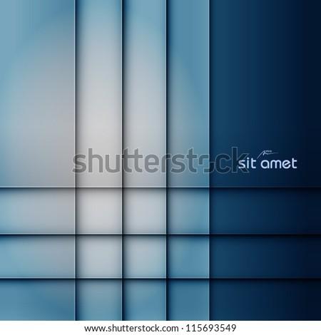 blue abstract vector background, web design element, vintage art banner, geometric illustration - stock vector