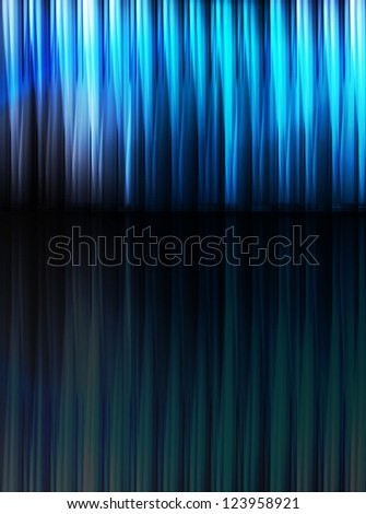 Blue abstract vector background with reflection - stock vector