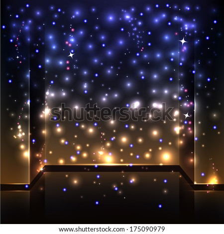 Blue an  sparkling background with intense glowing sparkles and glitter - stock vector