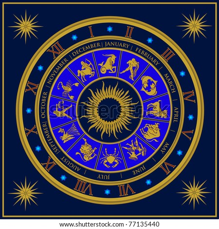 Zodiac Clock Stock Images Royalty Free Images Amp Vectors